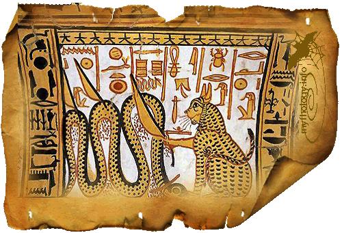 мифы египтян о кошке и змее