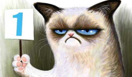 грустный котик карикатура